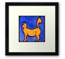 Happy Tail Framed Print