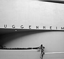Girl In Guggenheim NYC by Raoul Isidro