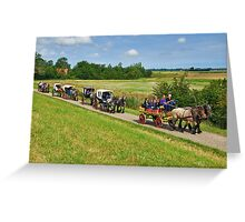 A ride through the farmlands Greeting Card