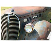 Vintage Truck Grill Poster