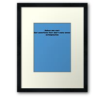 Haikus Are Easy Framed Print