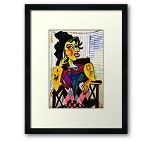 The Queen with Tattoed Arms Framed Print