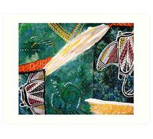 Dance of the Rays Art Print