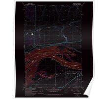 USGS Topo Map Washington Paterson 243104 1993 24000 Inverted Poster