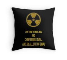 Duke Nukem - Chew Bubble Gum Throw Pillow