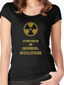 Duke Nukem - Chew Bubble Gum Women's Fitted Scoop T-Shirt