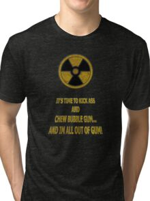 Duke Nukem - Chew Bubble Gum Tri-blend T-Shirt