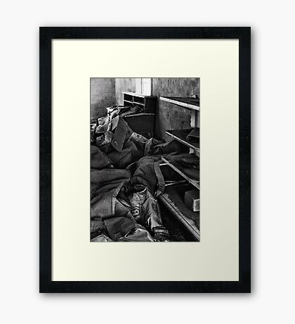Things people left behind Framed Print