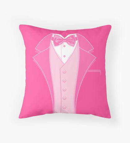 Tuxedo Pink Throw Pillow