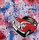 Mini Splatter 01 Painting by Richard Yeomans