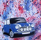 Mini Splatter 02 Painting by Richard Yeomans