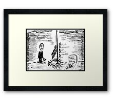 Tears for Norway Framed Print