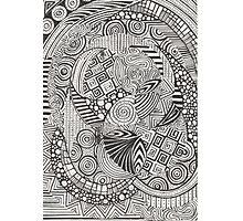 Black doodle Photographic Print