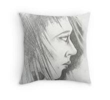 face 2 Throw Pillow