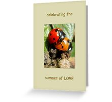 Celebrating the summer of LOVE Greeting Card