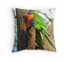 Feathery Friends Throw Pillow