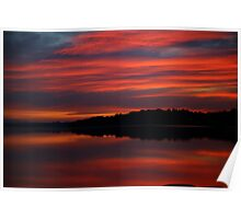 tidal sunset. anderson inlet, victoria Poster