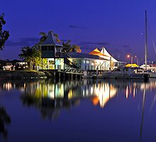 Carlo Point, Rainbow Beach at dusk. Queensland, Australia. by Ralph de Zilva