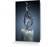 Flame Water Greeting Card