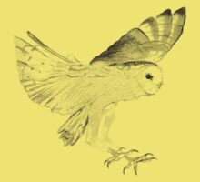 Owl in Flight Kids Tee
