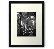 life through a curtain of language Framed Print
