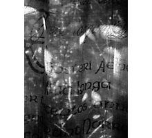 life through a curtain of language Photographic Print