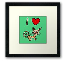 I LOVE CAT 2 Framed Print