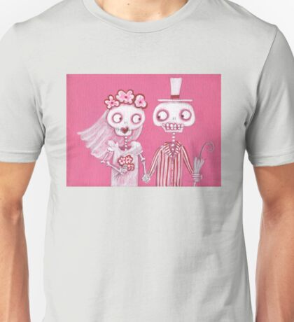 Pink Skelly Bride and Groom Unisex T-Shirt