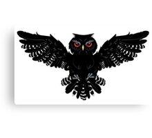 Black Owl 2 Canvas Print