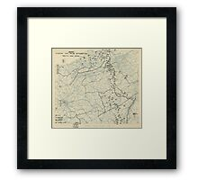 World War II Twelfth Army Group Situation Map September 28 1944 Framed Print