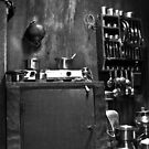 Inside of a temple kitchen  in our village by Dinni H