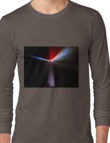 Lighthouse at night - Light beams shining Long Sleeve T-Shirt