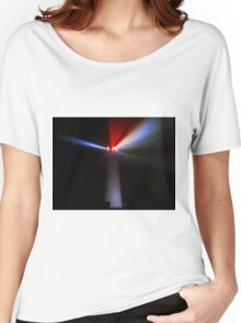 Lighthouse at night - Light beams shining Women's Relaxed Fit T-Shirt