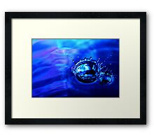 Drop 11 - Water Photography Framed Print