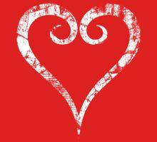 Kingdom Hearts Heart grunge Kids Tee