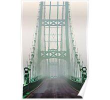 Fog, Deer Isle Bridge, Deer Isle, Maine Poster
