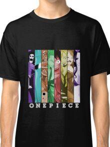 one piece luffy nami robin chopper sanji zoro usopp brook franky anime manga shirt Classic T-Shirt
