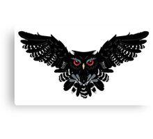Black Owl 4 Canvas Print