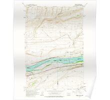 USGS Topo Map Washington Irrigon 241671 1962 24000 Poster