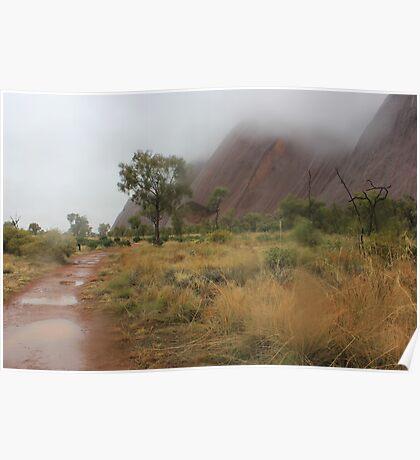 Rainfall at Uluru Poster