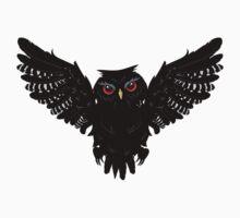 Black Owl 5 Kids Tee