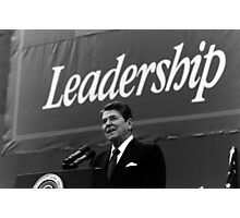 President Ronald Reagan Leadership Photo Photographic Print