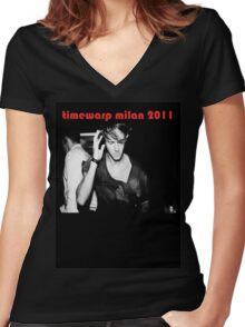 Richie Hawtin Timewarp Milan 2011 Women's Fitted V-Neck T-Shirt