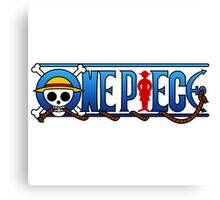 one piece logo Canvas Print