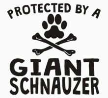 Protected By A Giant Schnauzer Kids Clothes