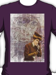Steam Punk Lady Telephone Gears T-Shirt