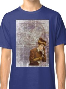 Steam Punk Lady Telephone Gears Classic T-Shirt