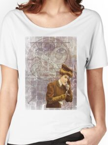 Steam Punk Lady Telephone Gears Women's Relaxed Fit T-Shirt