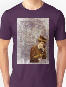 Steam Punk Lady Telephone Gears Unisex T-Shirt