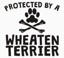 Protected By A Wheaten Terrier Kids Clothes